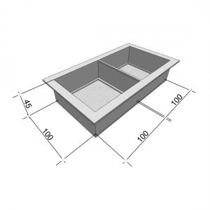 Формы для тротуарной плитки Вереск-2007 Антик №2 шагрень 200×100×45 мм