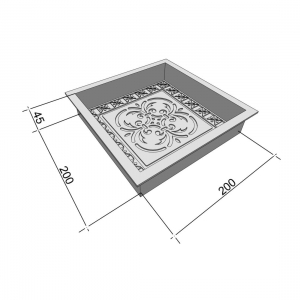 Формы для тротуарной плитки Вереск-2007 Антик Узор 200×200×45 мм