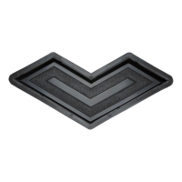 Формы для тротуарной плитки Вереск-2007 Бумеранг мозаика 355×155×45 мм