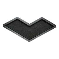 Формы для тротуарной плитки Вереск-2007 Бумеранг шагрень 355×155×45 мм