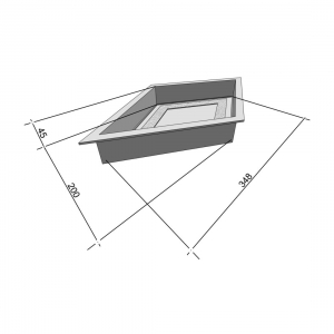 Формы для тротуарной плитки Вереск-2007 Ромб большой мозаика 348×200×45 мм