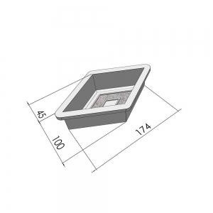 Формы для тротуарной плитки Вереск-2007 Ромб малый мозаика 100×174×45 мм