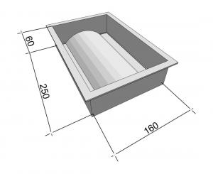 Формы для водостока Вереск-2007 Отлив 250×160×60 мм
