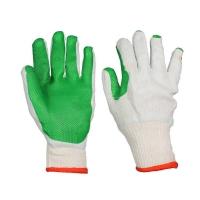 """Перчатки рабочие """"Каменщик"""" с латексным покрытием, зеленые и красные (манжет-резинка)"""