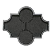 Формы для тротуарной плитки Вереск-2007 Мелирия шагрень с кольцами 270×225×45 мм