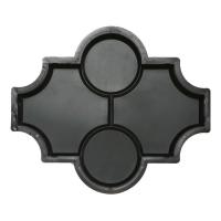 Формы для тротуарной плитки Вереск-2007 Мелирия гладкая с кольцами 270×225×45 мм