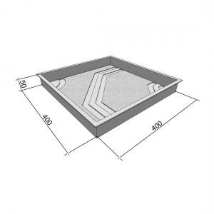 Формы для тротуарной плитки Вереск-2007 Восьмиугольник 400×400×50 мм