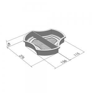Форми для тротуарної плитки Вереск-2007 Роккі половинки не симетричні