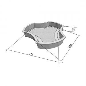 Формы для тротуарной плитки Вереск-2007 Рокки 276×255×45 мм
