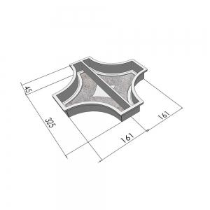 Формы для тротуарной плитки Вереск-2007 Рондо крест большой половинки