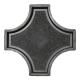 Формы для тротуарной плитки Вереск-2007 Рондо крест большой 325×325×45 мм