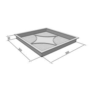 Формы для тротуарной плитки Вереск-2007 Звезда 300×300×30 мм